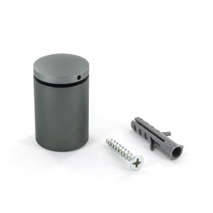 "1"" Diameter x 1-3/16"" Barrel Length Titanium Finish Counter Series Secure Fasten Standoff"