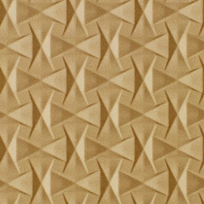 10' Wide x 4' Long Bowtie Pattern Argent Gold Finish Thermoplastic Flexlam Wall Panel