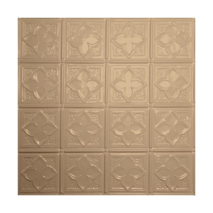 Tin Plated Stamped Steel Ceiling Tile | Lay In | 2ft Sq | Enchanted Sand Finish