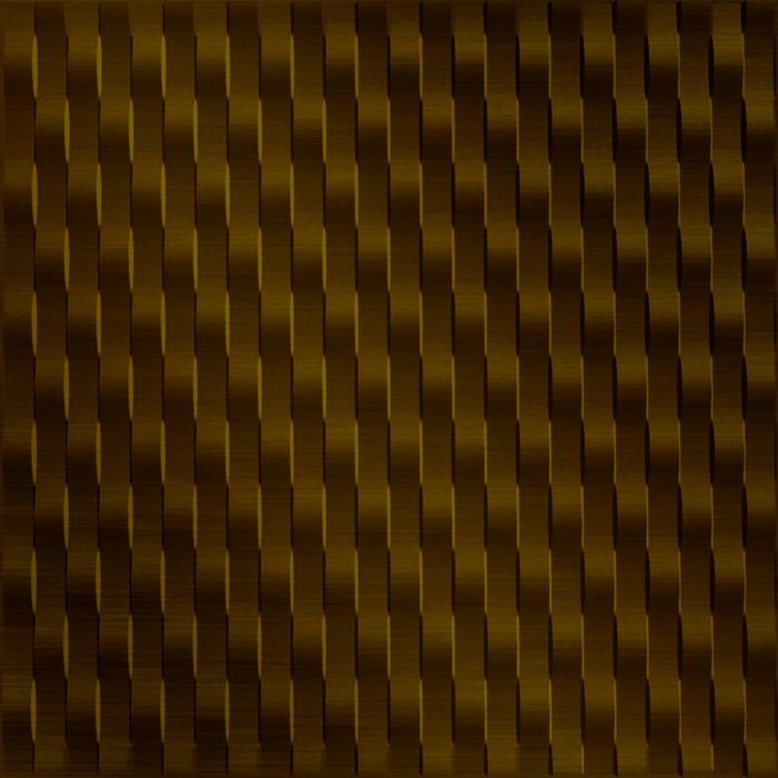 FlexLam 3D Wall Panel | 4ft W x 10ft H | Weave Pattern | Oil Rubbed Bronze Vertical Finish