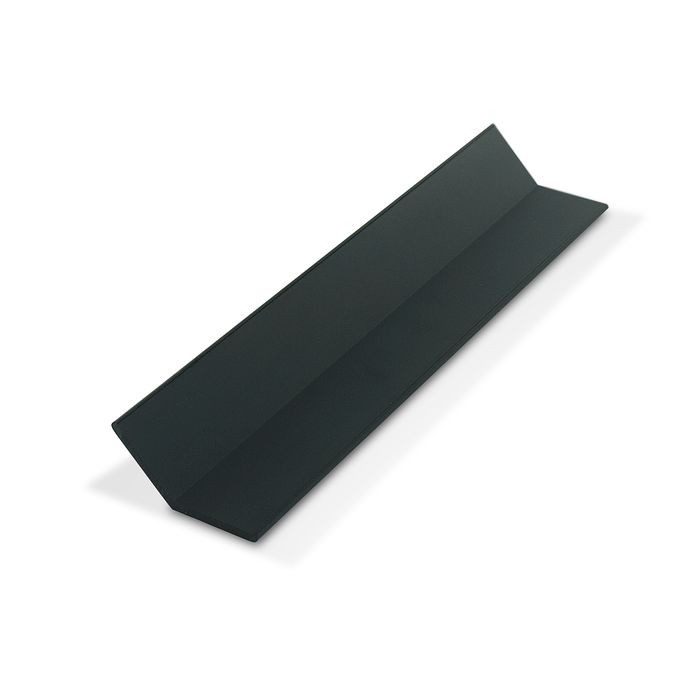 1in x 1in x 7/64in (.100in) Thick | Black Styrene Even Leg |  Angle Moulding | 12ft Length
