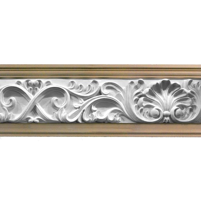 1in Proj | Unfinished Polymer Resin | Frieze Moulding | 5ft Long | Style 42-40D