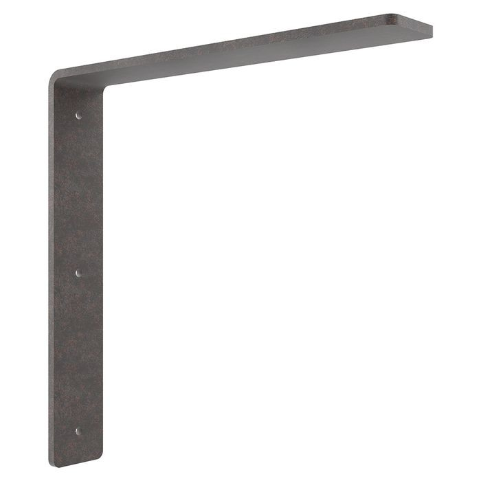 12in x 12in | Cold Rolled Steel (Raw) Finish | Hidden Steel Countertop Support Bracket