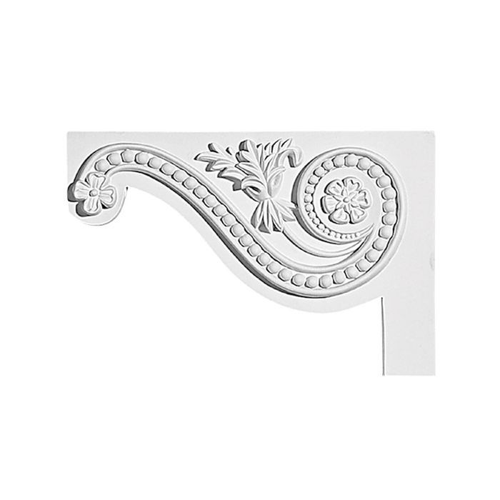 "11-7/16"" Wide x 7-5/8"" High Primed White Stair Bracket"
