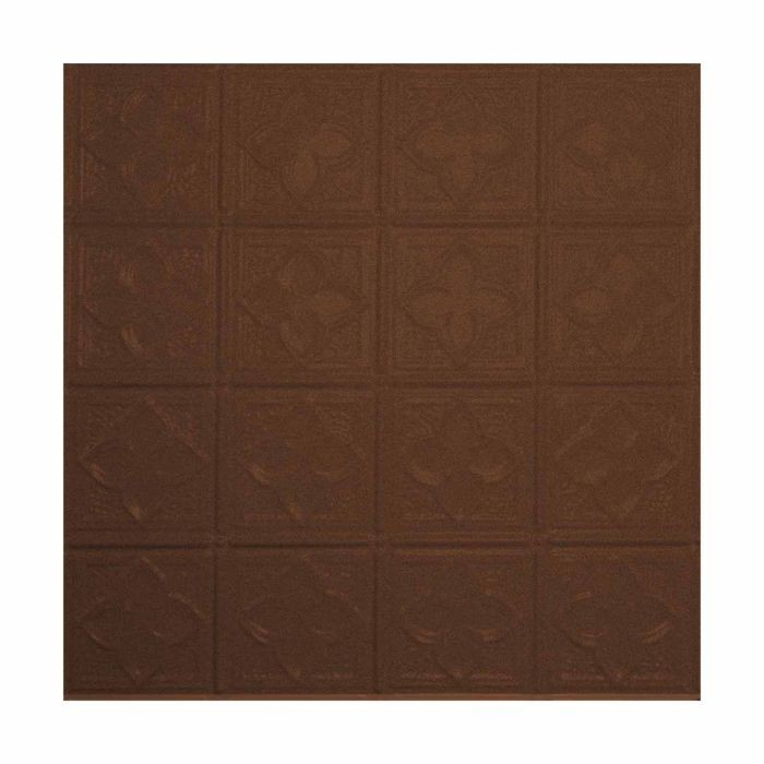Tin Plated Stamped Steel Ceiling Tile | Nail Up/Glue Up Ceiling Tile | 2ft Sq | Weathered Brown Finish