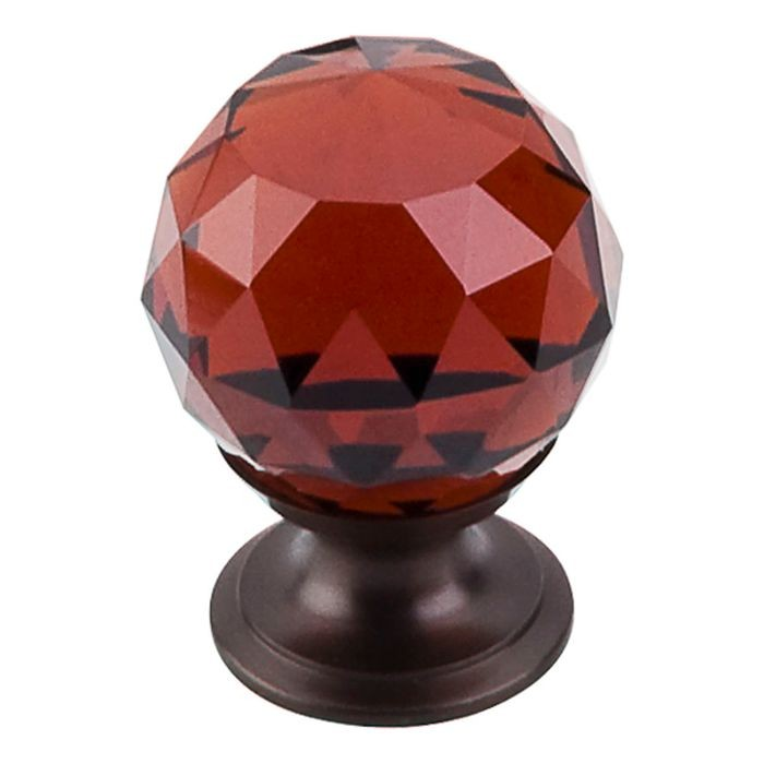 Wine Crystal Knob Oil Rubbed Bronze Base