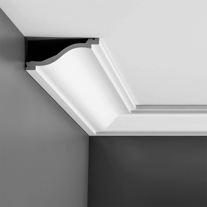 Orac Decor | High Density Polyurethane Crown Moulding | Primed White  | 2-1/2in H x 5-3/8in Proj x 5-3/4in Face