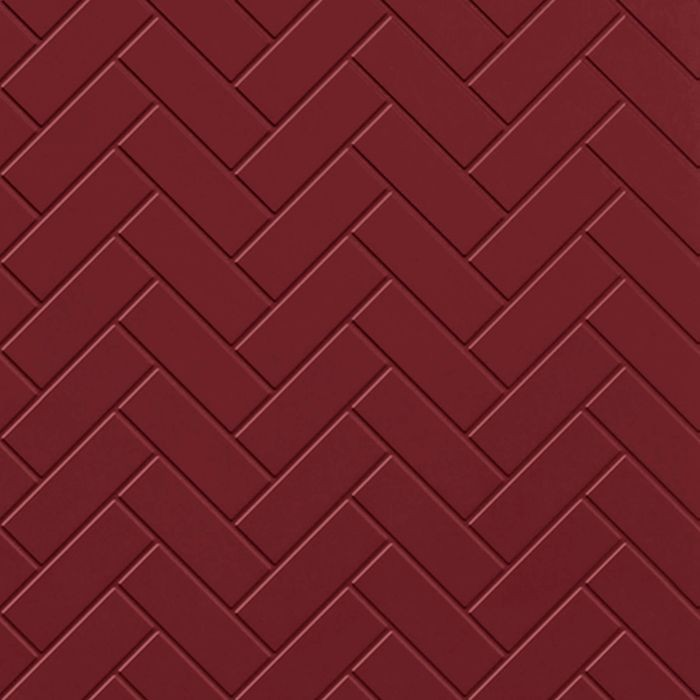 FlexLam 3D Wall Panel | 4ft W x 10ft H | Herringbone Pattern | Merlot Finish