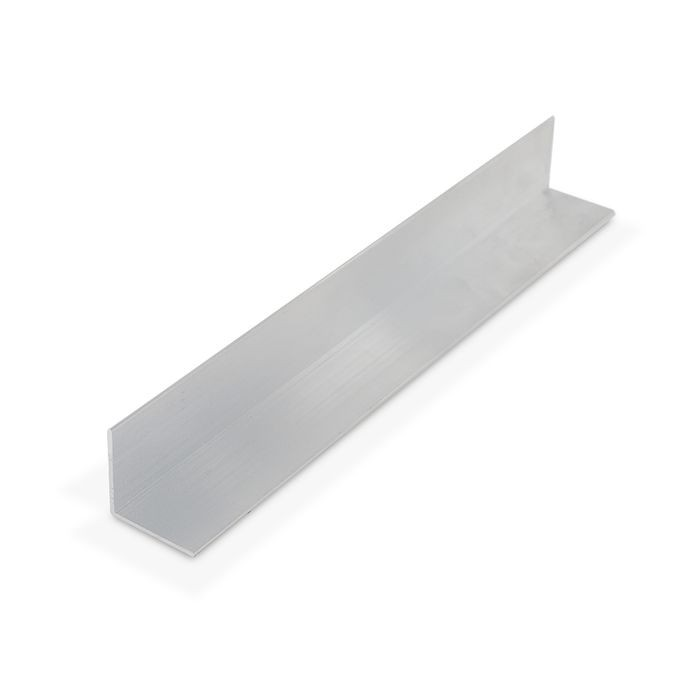 1in x 1in x 3/64in (.050in) Thick | Aluminum Even Leg | 90° Angle Moulding | 12ft Length