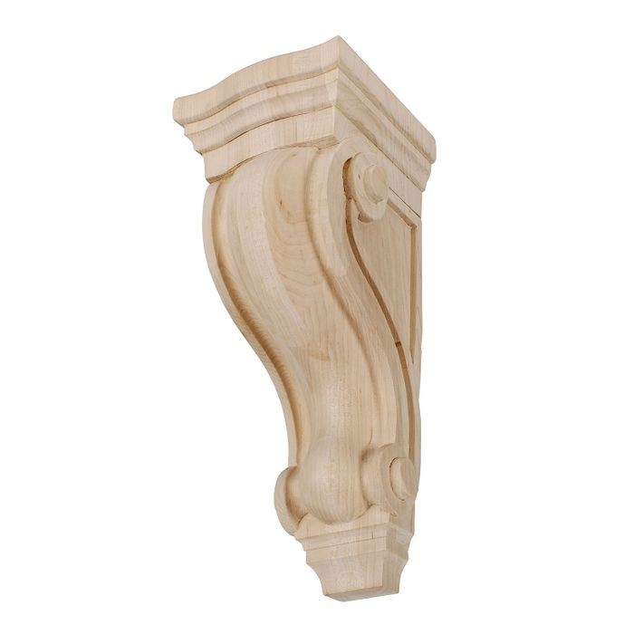 10in W x 36in H Unfinished | Solid North American Hardwood Hard Maple Corbel | RWC37 Series
