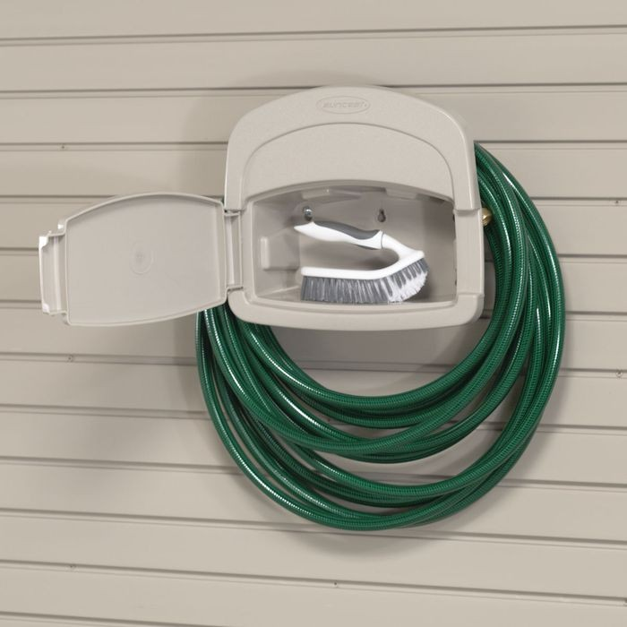 Tan Garden Hose Holder