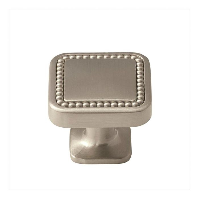 "1 1/4"" Square Knob Satin Nickel"