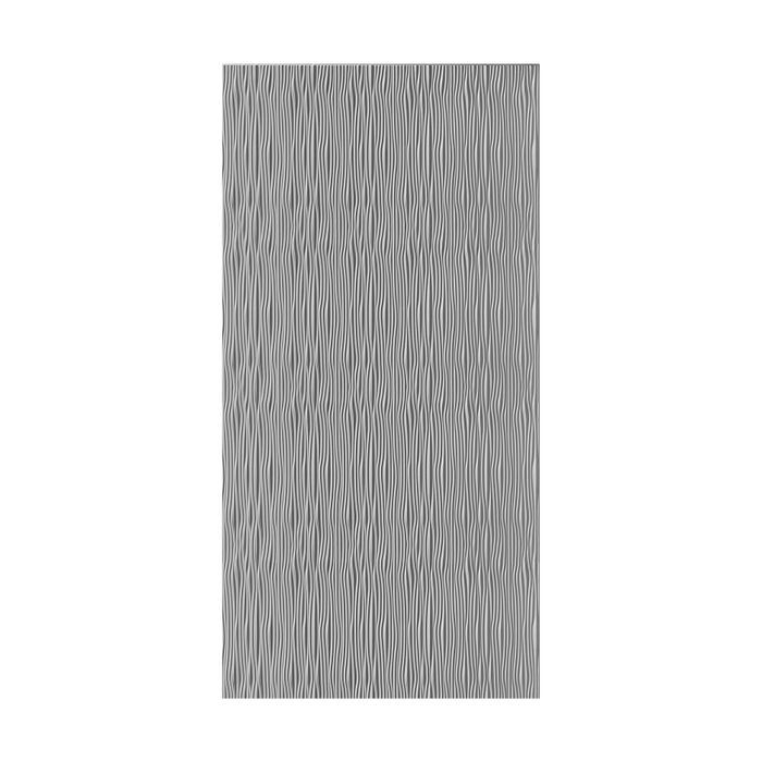 10' Wide x 4' Long Gobi Pattern Vintage Metal Vertical Finish Thermoplastic Flexlam Wall Panel