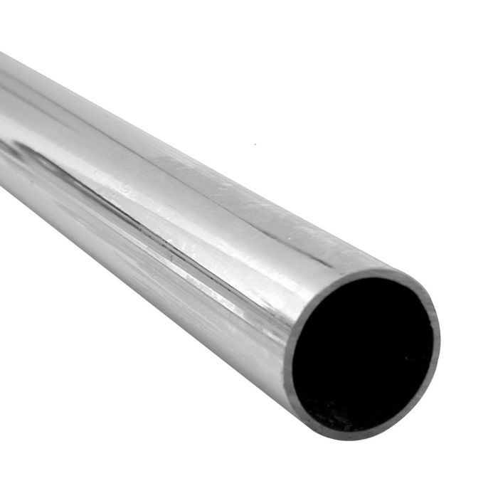 "1"" Outside Diameter x 60"" Length x 17 Gauge Chrome Plated Steel Tube"
