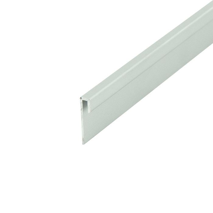 1/16in Clear Anodized (Satin) Finish | Aluminum Cap Moulding | 12ft Length