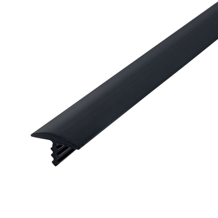 1/2in 260 Black Flexible Polyethylene | Center Barb Tee Moulding | 250ft Coil