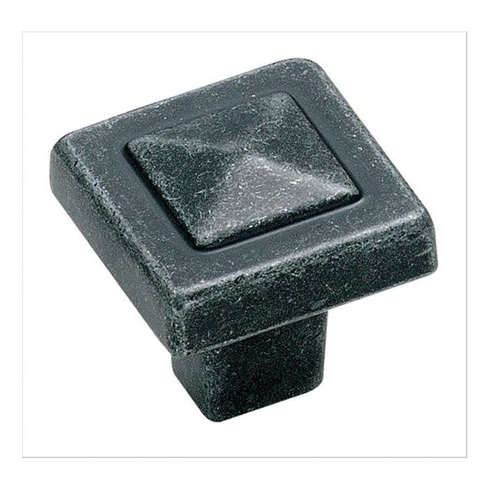 "1 1/8"" Square Knob Wrought Iron"