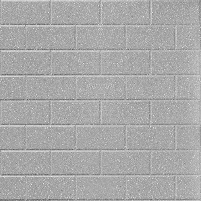 FlexLam 3D Wall Panel | 4ft W x 10ft H | Subway Tile Pattern | Argent Silver Finish