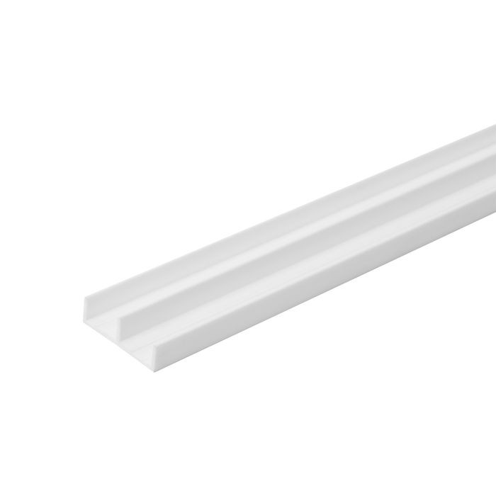 1/2in W | Lower Sliding Door Track | White Color | 12ft Length