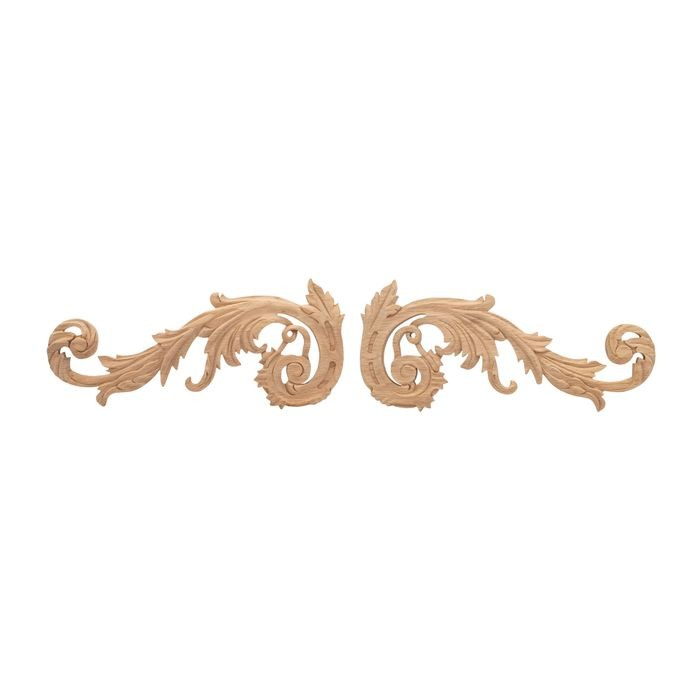 12in W x 5-1/6in H | Solid Red Oak Royal Wood Collection Scroll | RWC204 Series
