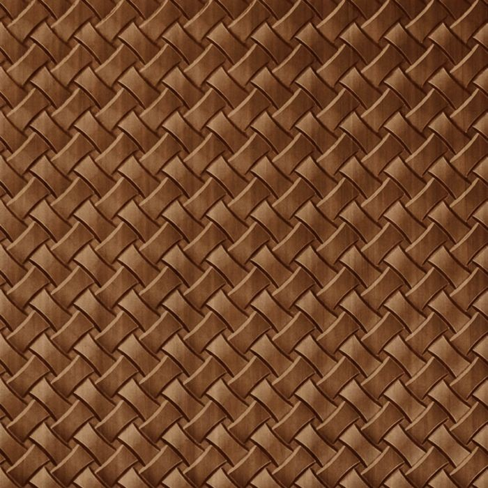 10' Wide x 4' Long Celtic Weave Pattern Pearwood Finish Thermoplastic Flexlam Wall Panel