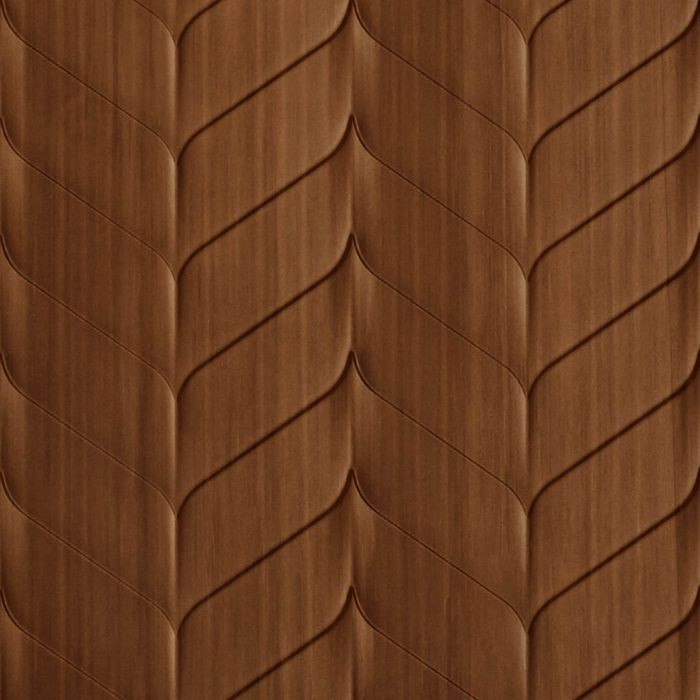 10' Wide x 4' Long Ariel Pattern Pearwood Finish Thermoplastic Flexlam Wall Panel