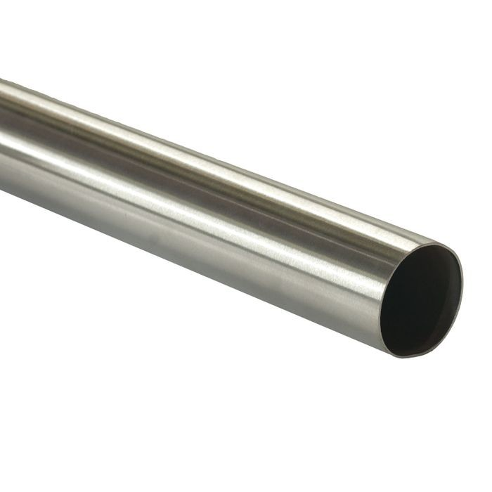 "1-1/2"" Diameter Satin Stainless Steel Finish Railing 8' Length"