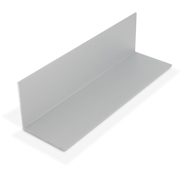 """2/"""" x 2/"""" x 1//16/"""" Wall 3 Foot Length Aluminum Angle Clear Anodized"""