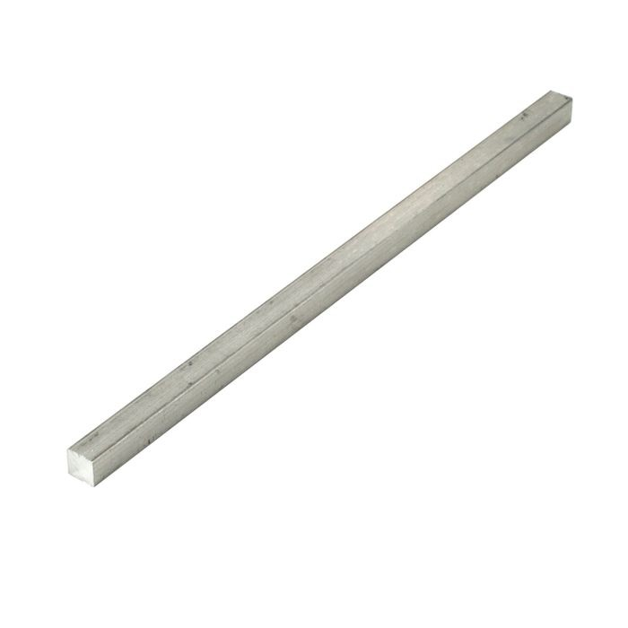 1/4in Square | Mill Finish Aluminum Bar | 8ft Length
