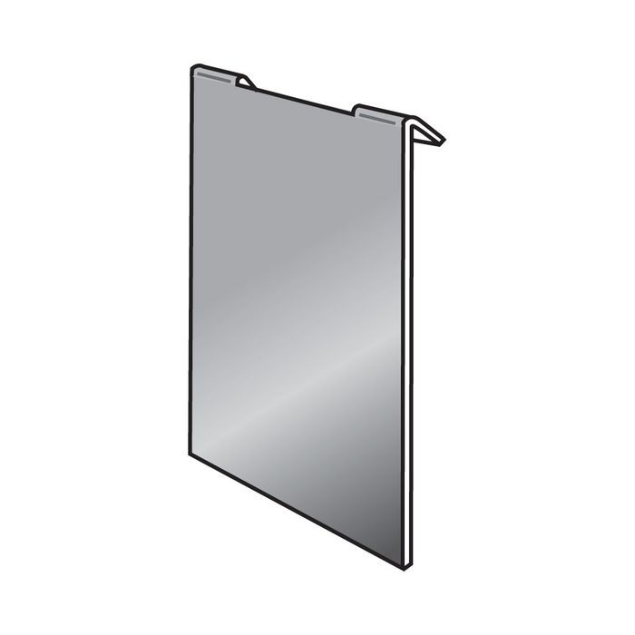 "Slatwall Display Mirror 9""W X 12""H"