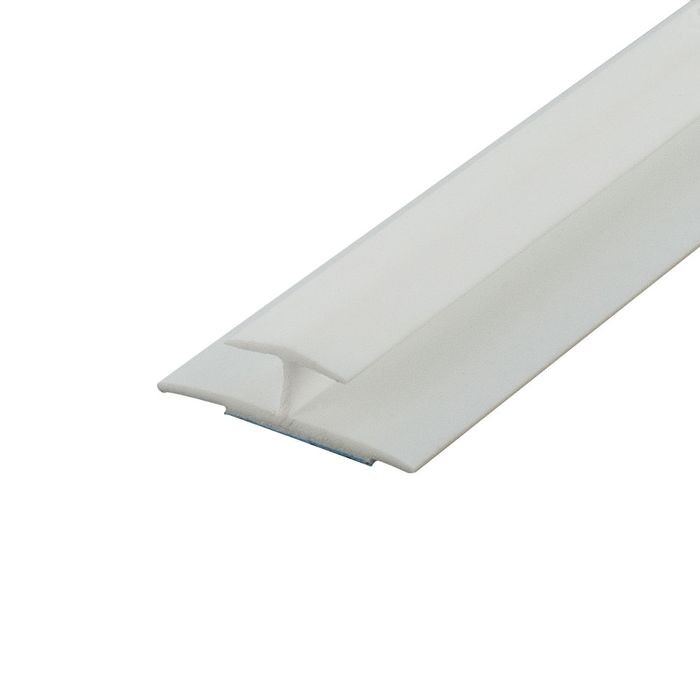 1/4in White Styrene | Divider Moulding With Adhesive | 8ft Length