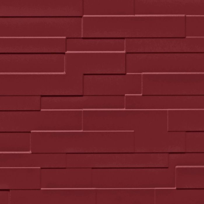 FlexLam 3D Wall Panel | 4ft W x 10ft H | Tetrus Pattern | Merlot Finish