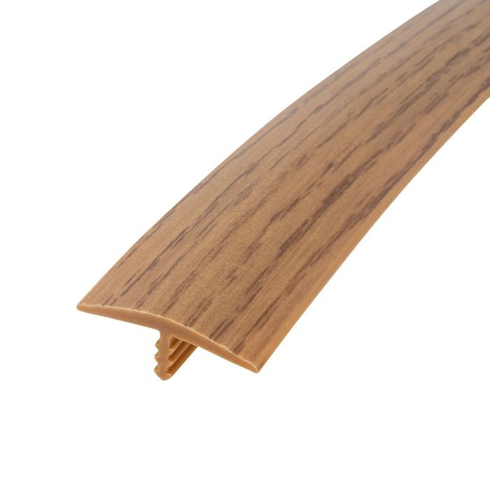1-1/8in 866P Natural Oak Flexible Polyethylene | Center Barb Tee Moulding | 250ft Coil