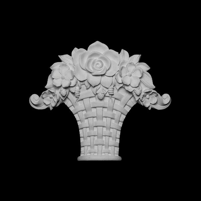 "11-3/4"" Wide x 9-1/4"" High Unfinished Polymer Resin Keystone Applique"