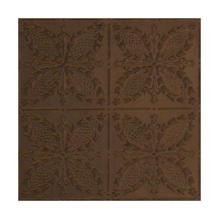 Tin Plated Stamped Steel Ceiling Tile | Nail Up/Glue Up Ceiling Tile | 2ft Sq | Antique Brass Finish