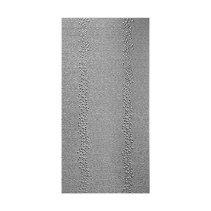 10' Wide x 4' Long Cascade Pattern Eccoflex Black Finish Thermoplastic Flexlam Wall Panel