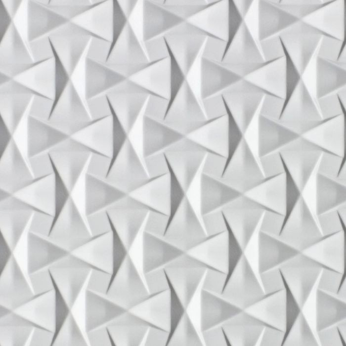 10' Wide x 4' Long Bowtie Pattern White Finish Thermoplastic Flexlam Wall Panel