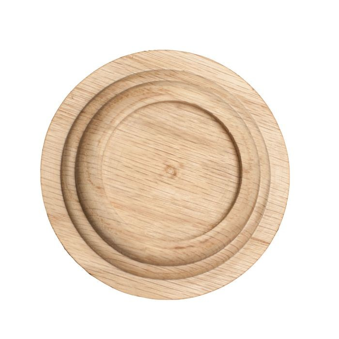 "1-1/2"" Diameter Red Oak Wood Rosette"