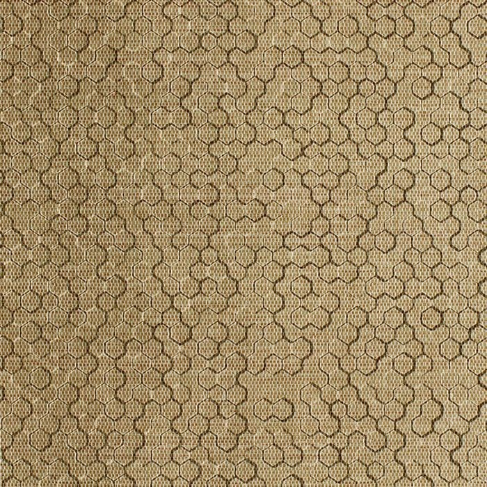 10' Wide x 4' Long Beehive Pattern Linen Beige Finish Thermoplastic Flexlam Wall Panel