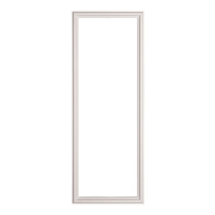 Trim Fast | White High Impact Polymer | Panel Frame with Adhesive Back | Outside Dimensions 11-13/16in x 31-1/2in x 9/16in