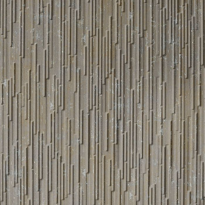 10' Wide x 4' Long Glacier Pattern Vintage Metal Finish Thermoplastic FlexLam Wall Panel