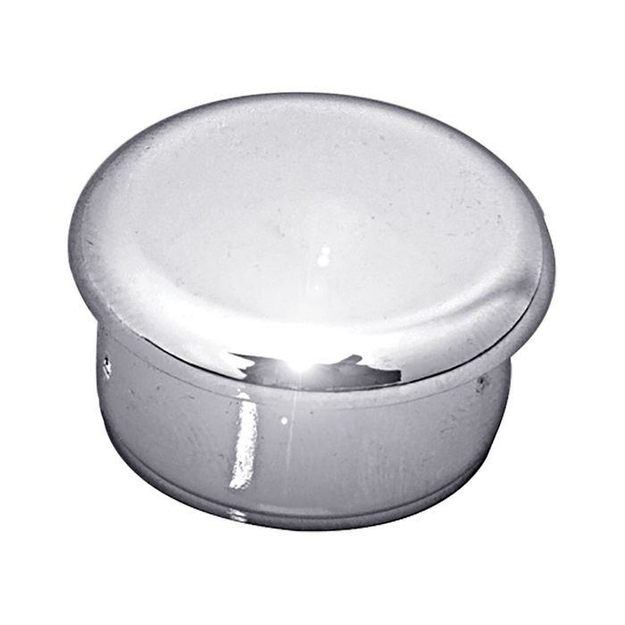 "1"" Diameter 14 Gauge ABS Chrome Plated Plastic Round Inside End Cap for Tubing"