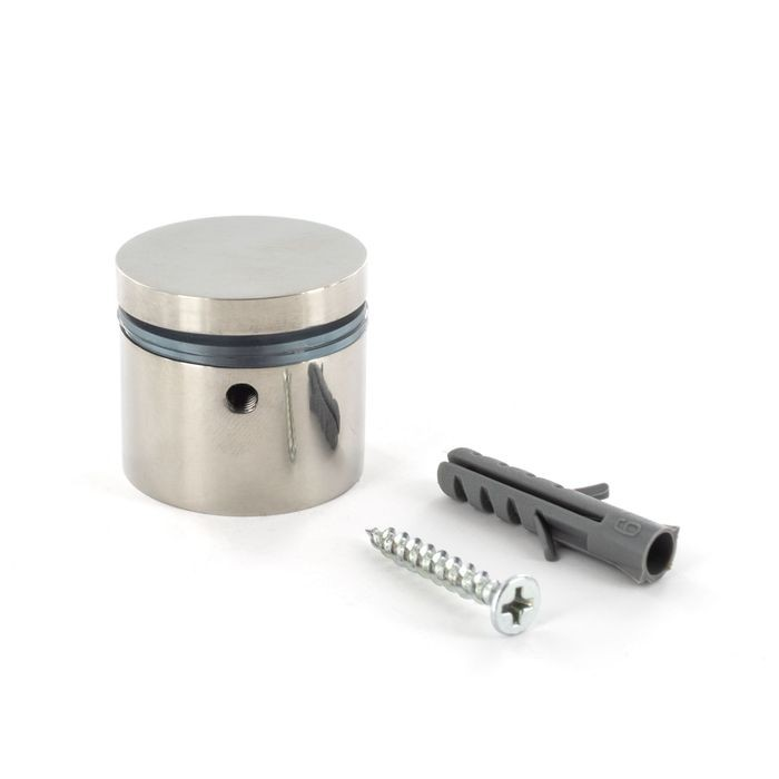 "1-1/4"" Diameter x 3/4"" Barrel Length Polished Stainless Finish Eco Lock Series Tamper Proof Standoff"