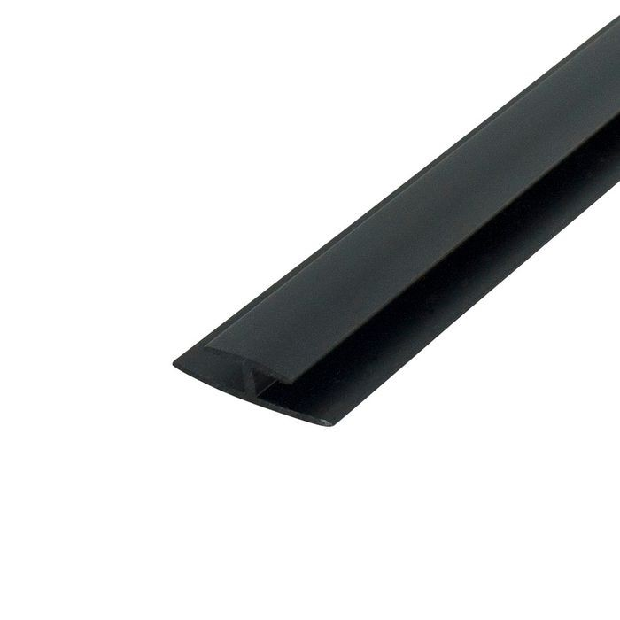 1/8in Black | ABS Divider Moulding | 8ft Length
