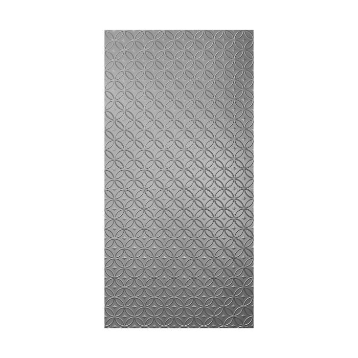 10' Wide x 4' Long Celestial Pattern Brushed Aluminum Finish Thermoplastic Flexlam Wall Panel