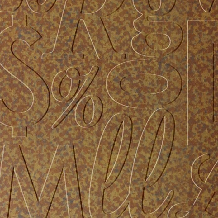 10' Wide x 4' Long Alphabet Soup Pattern Cracked Copper Finish Thermoplastic Flexlam Wall Panel