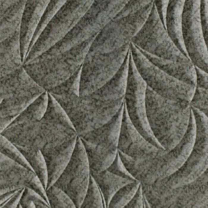 FlexLam 3D Wall Panel | 4ft W x 10ft H | Sculpted Petals Pattern | Galvanized Finish