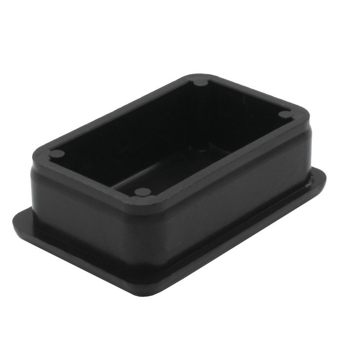 1in x 1-1/2in Rectangular | 16 Gauge Black Finish ABS | Plastic Inside End Cap for Tubing