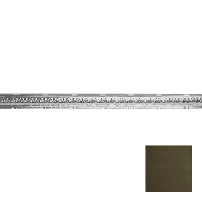 Tin Plated Stamped Steel Cornice | 2-1/2in H x 2-1/2in Proj | Antique Sage Finish | 4ft Long