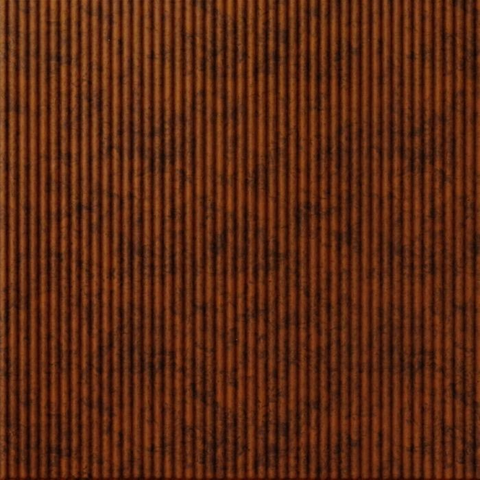FlexLam 3D Wall Panel | 4ft W x 10ft H | Rib1 Pattern | Moonstone Copper Finish